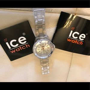 NWOT Ice Classic SilverDial WatchTransparent strap